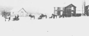 Volden i Gresli (1919). Bildet er tatt under bryllupet til Ane Bergitte Korsvold og Peder Hansen Græsli.