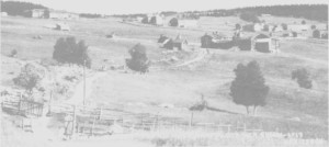 Østby-grenda på den tida leilendingene kjøpte gardene sine.