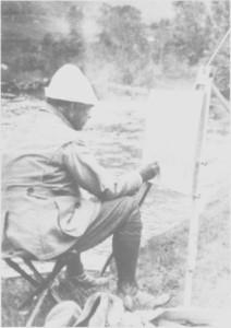 William Henry Singer (1868 — 1943) var sønn av en mangemillionær i USA, men valgte kunstnerlivet framfor forretningslivet. Han kom til Tydal første gang i 1911 og var her på årlige besøk til 1926 for å drive jakt, fiske og male. Når han kom til Tydal, tok han inn hos Olaus Anne, og Singer hadde et eget loft til disposisjon på Anne. Ellers bodde han i den prektige jaktbytta han fikk satt opp ved Essa ndsjøen. Singer hadde en hel tjenerstab til disposisjon mens han var i Tydal, og de sørga bl. a. for pass og stell av Singers mange jakthunder som var stasjonert her hele året. Singer huskes særlig i Tydal for sin gavmildhet. Han betalte hele kjøpesummen da 13 leilendinger og husmenn i Østby ble sjøleiere i 1921. Bildet av Singer er tatt i 1922 i Olden, der han og kona hadde fast bosted fra 1914.