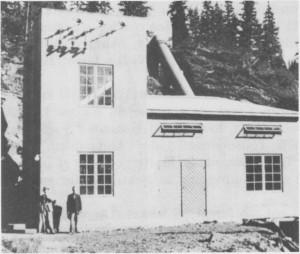 Kraftstasjonen til Tydal kommunale kraftverk ved Kistafossen. I dag er anlegget blitt museum.
