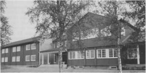 Væktarstua (Tydal hotell) etter den siste utbygginga i 1991.