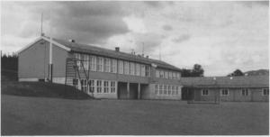 Ny skolen i Ås samla barna fra fire kretser. Etter at sidebygget var ferdig i 1964, ble den siste grendeskolen lagt ned.