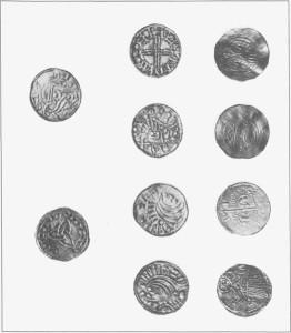Noen av myntene fra Greslifunnet