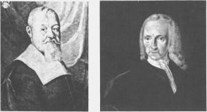 Malte portretter av to menn som har bestemt mye av eiendomsstrukturen i Tydal. Til venstre Caspar Christoffersen Schøller (d. 1661) som la grunnlaget for Schøllerfamiliens eiendommer. På 1700-tallet eide arvingene hans over halvparten av jorda i Tydal. Til høgre Thomas Angell (d. 1767) som testamenterte jordegodset sitt til en stiftelse. I Tydal hørte Stugudal, Løvøya, Fossan og Østby til Thomas Angells stiftelser.