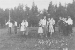 Dans på Langkåsvollen i 1943.